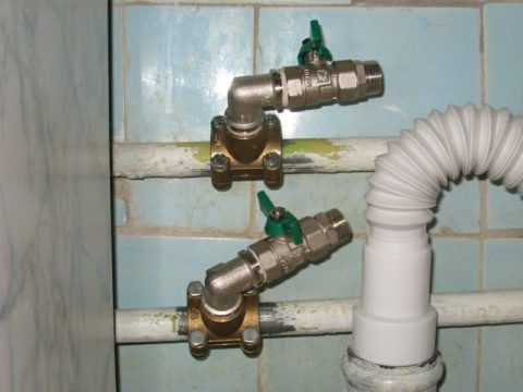 Врезка в тройниковый водопровод для подключения стиральной машины